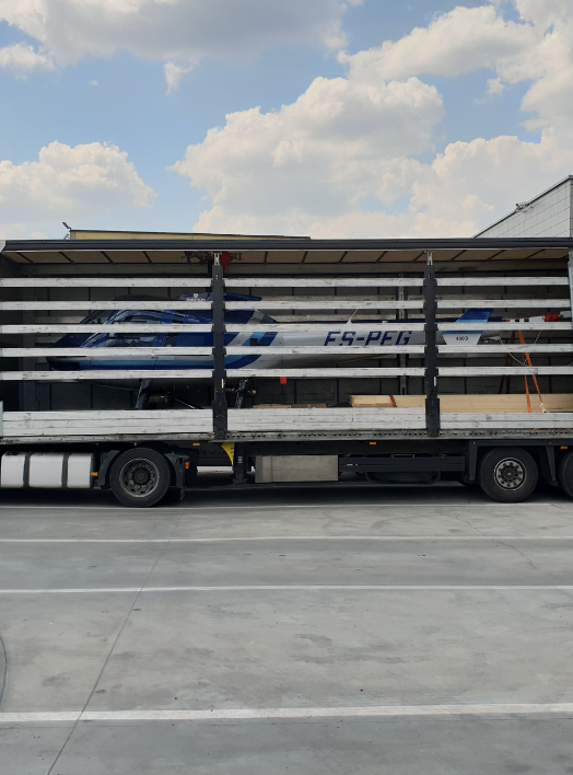 Übergroße Güterbeförderung